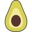 fruit, avocado icon