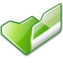 folder,green,open icon