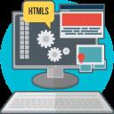 code, technology, process, creative, html, computer, web development icon