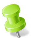 Chartreuse, Left, Map, Marker, Pin, Push icon