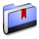 Blue, Bookmarks, Folder icon