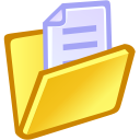 document, paper, file, folder icon