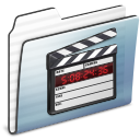 folder, graphite, film, stripe, video, movie icon