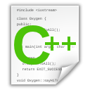x, c++src, text icon