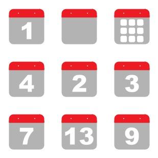 Calendar icon sets preview