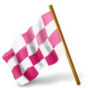 base, pink, derelict, map, chequered, left, flag, marker, socia, media icon
