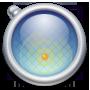 Map, Round icon