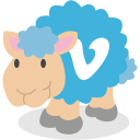social network, vimeo, sheep icon
