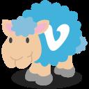 social network, vimeo, sheep icon