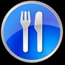 restaurant,blue icon