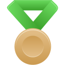 green, metal, bronze icon