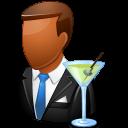 Occupations Bartender Male Dark icon