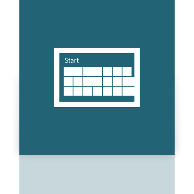 start, screen, window, mirror icon
