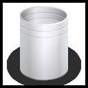 trash, empty, blank, recycle bin icon