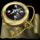 exploration, atlas, sailing, antique, map, world, navigation, compass, old icon
