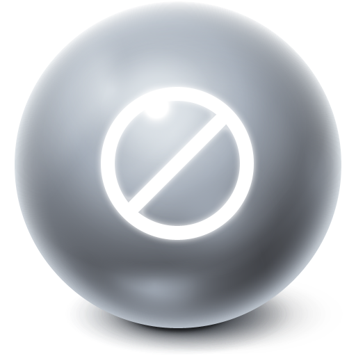no, stop, bright, cancel, ball icon