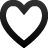 empty, heart, love, favorite, valentine, blank icon