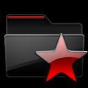 Black, Favorites, Folder, Red icon