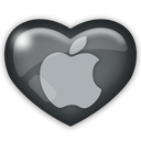 media, apple, social icon