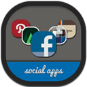 Flat, Folders, Round, Social icon