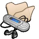 mymusic, beige, folder icon