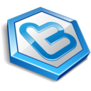 twitter hexa blue icon