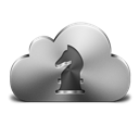 Cloud, Gamecenter, , Silver icon