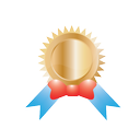 achievement, award, best, medal, reward, trophy, gold, ribbon, gift, winner, win, prize, badge, conversion icon