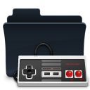 badged, gaming, folder, game icon