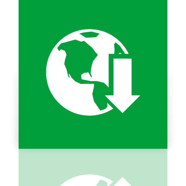 mirror, download, internet, manager icon