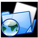 blue, html, folder icon