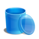 blue,recycle,bin icon