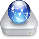 Network iDisk metal icon