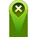 location, remove, pin icon