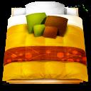 Futon bed icon