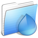 aqua, torrents, stripped, folder icon