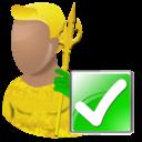 yes, correct, aquaman, right, hero, arrow, forward, next, cartoon, ok icon