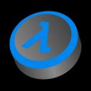 shift, life, blue, half icon