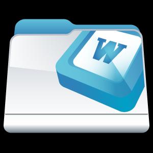 folder, word, microsoft icon