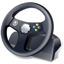 steering wheel, controller, gamepad icon
