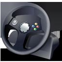 steering wheel, controller, gamepad icon