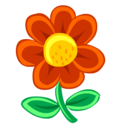 red,flower,plant icon