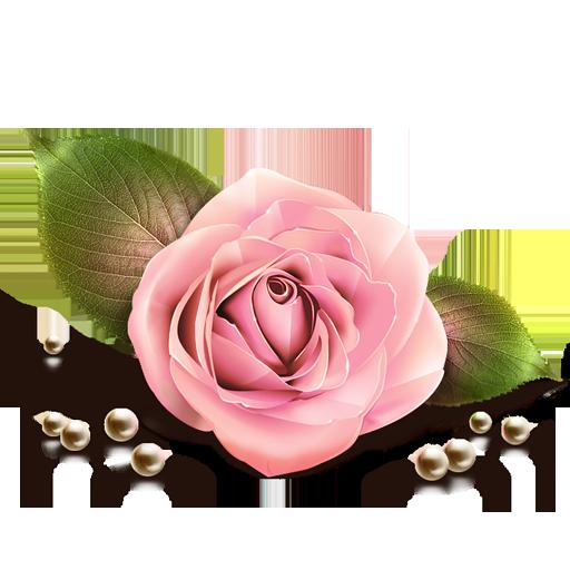 lv, artdesigner, rose, by icon