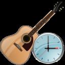 guitar,clock,instrument icon
