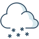 ice, snow, cloud, weather icon