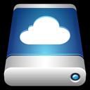 external, drive, cloud, icloud, storage, data icon