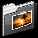Black, Folder, Pictures. icon