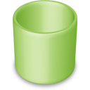 blank, empty, recycle bin, trash, green icon