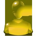 User, Yellow icon