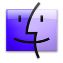 Finder, Galaxy, Leopard icon